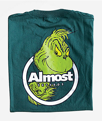 Almost x The Grinch Ringer Green T-Shirt