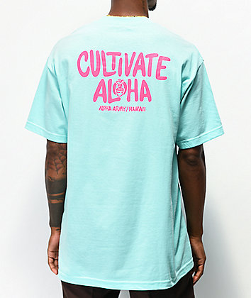 Aloha Army Cultivate Mint Green T-Shirt