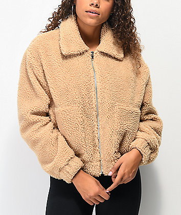 Angel Kiss Teddy Brown Sherpa Jacket