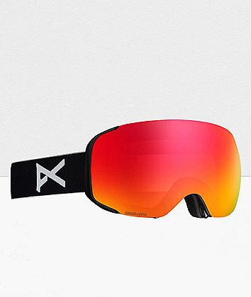Anon M2 MFI Black & Sonar Red Snowboard Goggles