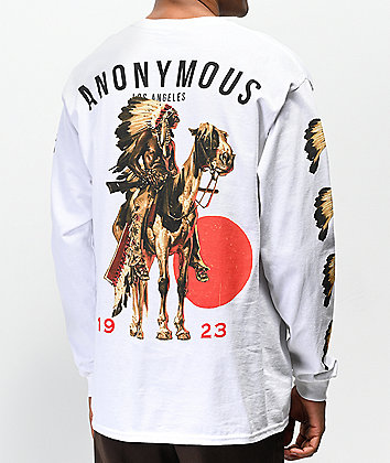 Anonymous Chief White Long Sleeve T-Shirt