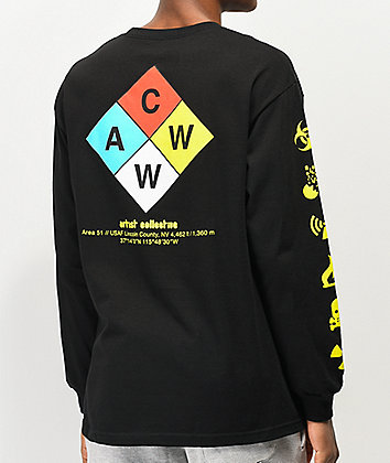 Artist Collective ACWW Hazard 51 Black Long Sleeve T-Shirt