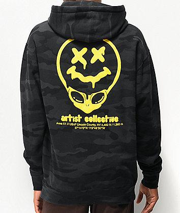 Artist Collective Alien Drip 51 Black Camo Hoodie