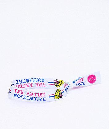 Artist Collective Cheetah White Festival Bracelet
