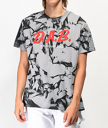 Artist Collective DAB Black & Grey Tie Dye T-Shirt