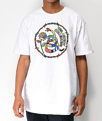 Artist Collective Don't Tread White T-Shirt