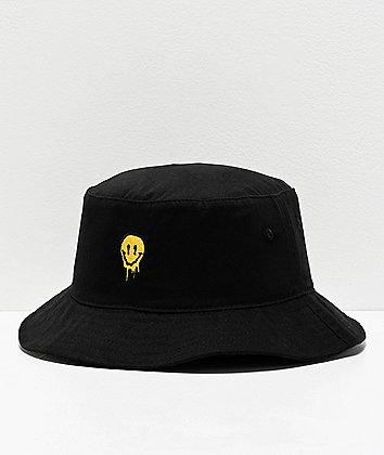 Artist Collective Drip Face Black Bucket Hat