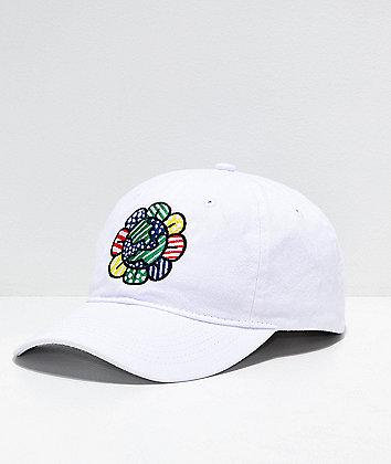 Artist Collective Flower Globe White Strapback Hat