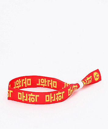 Artist Collective Kanji Red Festival Bracelet