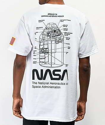 Artist Collective NASA Apollo 14 White T-Shirt