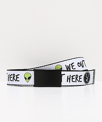 Artist Collective We Out Here White Web Belt