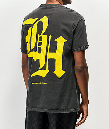 BROCKHAMPTON BH Logo Tar Black & Yellow T-Shirt