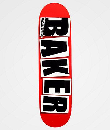 """Baker Brand Logo Black & Red 8.38"""" Skateboard Deck"""