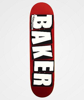 """Baker Brand Logo Red Foil 8.25"""" Skateboard Deck"""