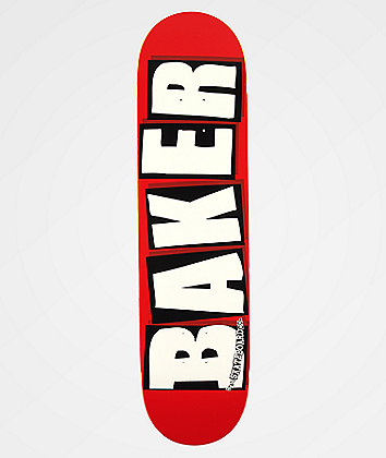 "Baker Brand Logo White & Red 8.0"" Skateboard Deck"