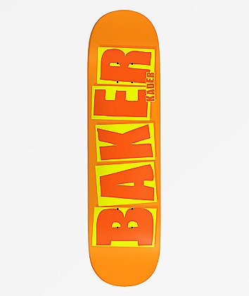 "Baker Kader Brand Name Orange 8.25""  Skateboard Deck"
