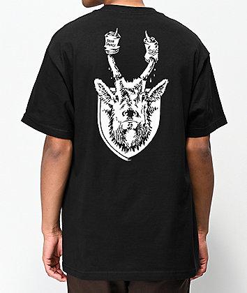 Beer Savage 805 Horns Black T-Shirt