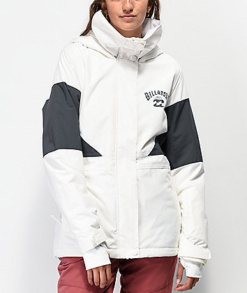 Billabong Say What White 10K Snowboard Jacket
