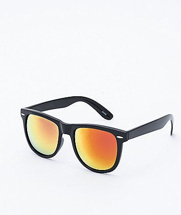 Black & Orange Revo Wayfarer Sunglasses