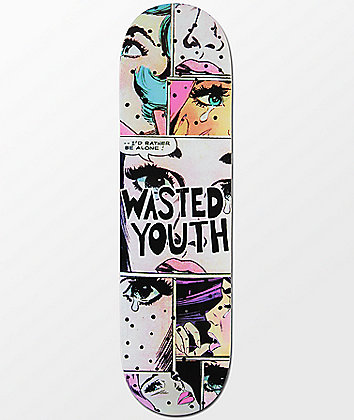 """Blackout Wasted Youth Alone 8.5"""" Skateboard Deck"""