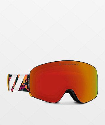Blenders Flora Fantasy Orange Snowboard Goggles