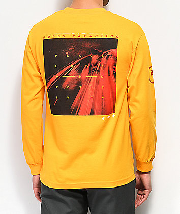 Bobby Tarantino by Logic Peace, Love & Positivity Yellow Long Sleeve T-Shirt
