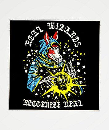 Boss Dog Real Wizards Sticker