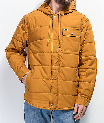 Brixton Cass Gold Puffer Jacket