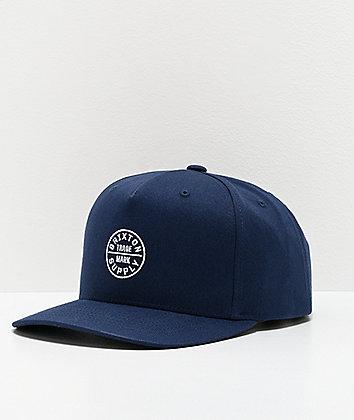 Brixton Oath 110 MP Navy Snapback Hat
