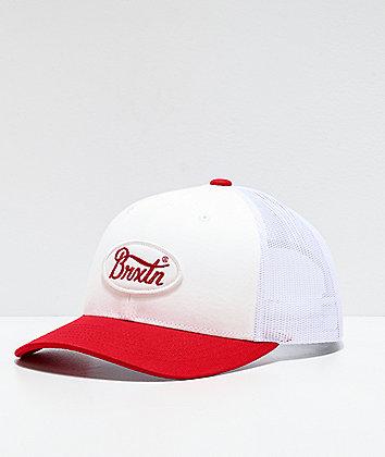 Brixton Parsons Red & White Trucker Hat