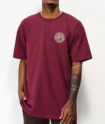 Brixton Rival II Burgundy T-Shirt