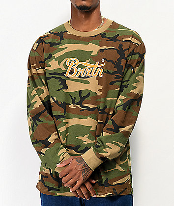 Brixton Sith VI Wood Camo Long Sleeve T-Shirt