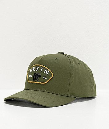 Brixton Waylon 110 MP Olive Snapback Hat