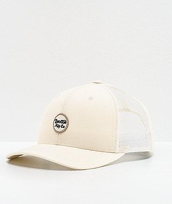 Brixton Wheeler Tan Trucker Hat
