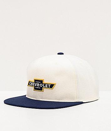 Brixton x Chevrolet El Camino Bowtie White Snapback Hat