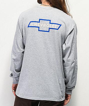 Brixton x Chevy Bowtie Grey Long Sleeve Pocket T-Shirt
