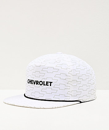 Brixton x Chevy Covered El Camino White Snapback Hat