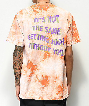 Broken Promises Best Buds White & Peach Tie Dye T-Shirt