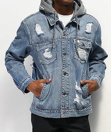 Broken Promises Heartless Hooded Denim Jacket