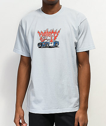 Brooklyn Projects Up In Flames Light Blue T-Shirt