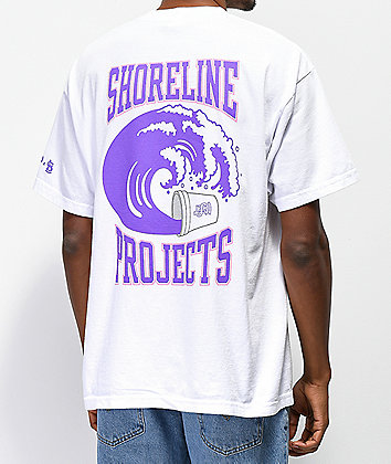Brooklyn Projects x Shoreline Mafia Wavy White T-Shirt