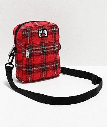 Bumbag Afrim Red Plaid Shoulder Bag