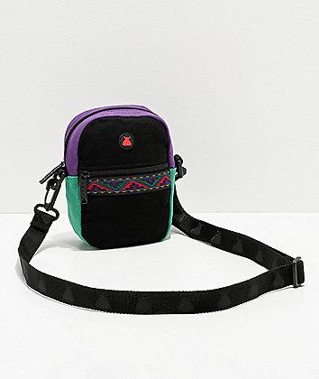 Bumbag Java Black, Purple & Teal Shoulder Bag