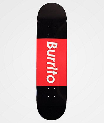 "Burrito Logo Grande Black & Red 8.0"" Skateboard Deck"