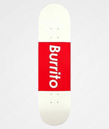 "Burrito Logo Grande Red & White 8.25"" Skateboard Deck"