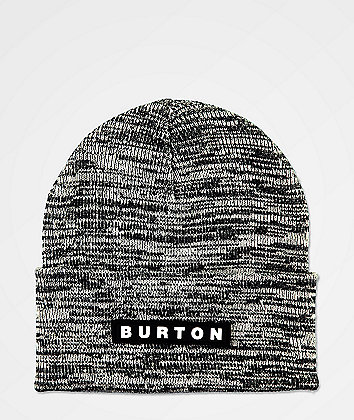 Burton All 80 Black & White Marl Beanie