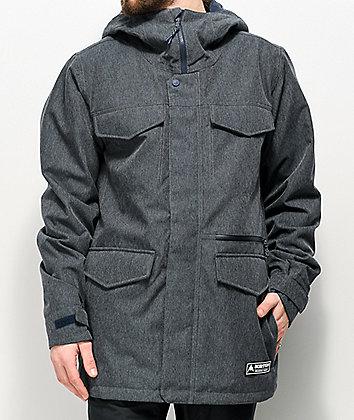 Burton Covert Grey Denim 10K Snowboard Jacket