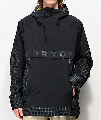 Burton Frostner Black Anorak 10K Snowboard Jacket