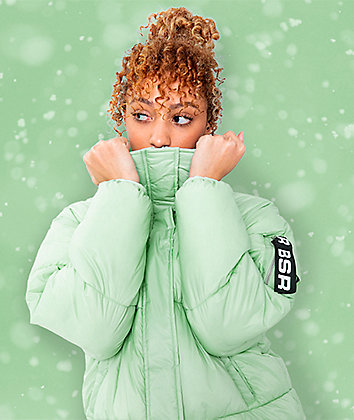 By Samii Ryan Finesse Mint Green Puffer Jacket
