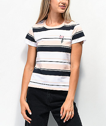By Samii Ryan Let Me Go Pink Stripe T-Shirt
